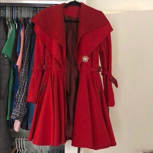 Jackets & Blazers - Beautiful red winter coat
